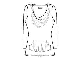 Cowl Shirt